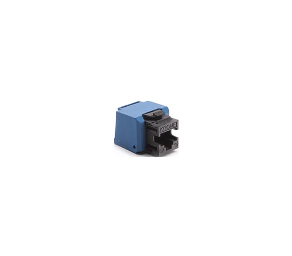 Wkład gniazda komputerowego RJ45 kat.6, nieekranowany (UTP) czarny KRJ456