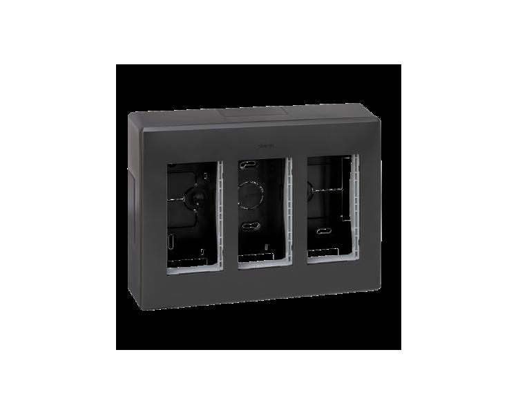 Obudowa natynkowa SIMON 500 3×S500 6×K45 szary grafit 51000003-038