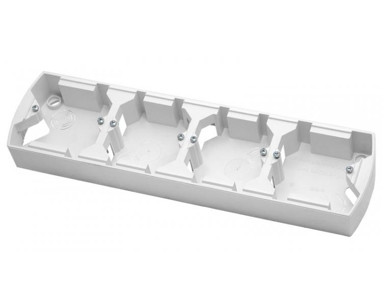 Puszka instalacyjna do serii GAZELA poczwórna pozioma biały Gazela PNP-4JH/00