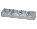 Puszka instalacyjna do serii GAZELA poczwórna pozioma srebro/tytan Gazela PNP-4JH/18