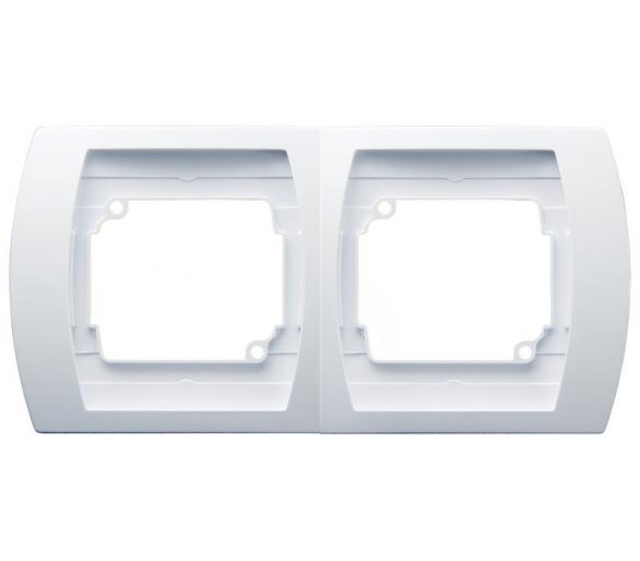 Ramka podwójna pozioma biały Gazela R-2JH/00