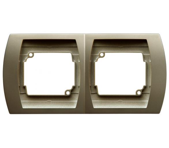 Ramka podwójna pozioma satyna/satyna Gazela R-2JH/16