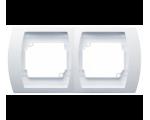 Ramka podwójna pionowa biały Gazela R-2JV/00