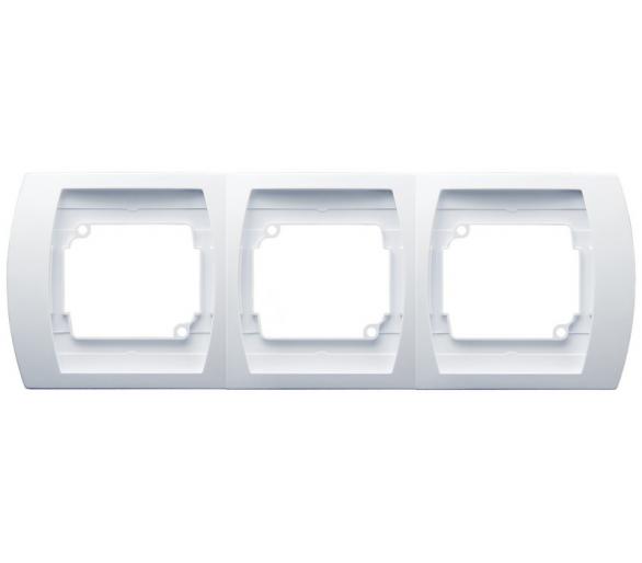 Ramka potrójna pozioma biały Gazela R-3JH/00