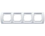 Ramka poczwórna pionowa biały Gazela R-4JV/00