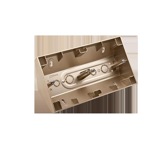 Puszka natynkowa narożna 2-krotna złoty mat, metalizowany