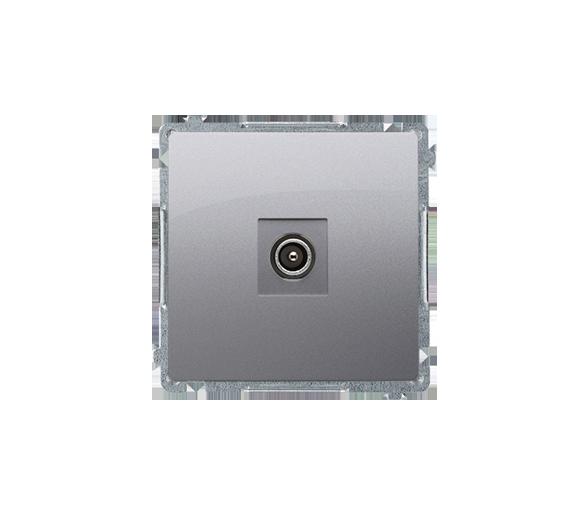 Gniazdo antenowe R-TV końcowe separowane srebrny mat, metalizowany BMAK3.01/43