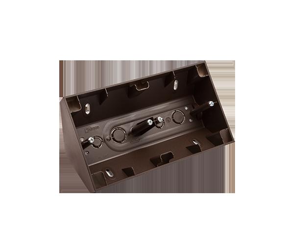 Puszka natynkowa narożna 2-krotna brąz mat, metalizowany DPNR2/46