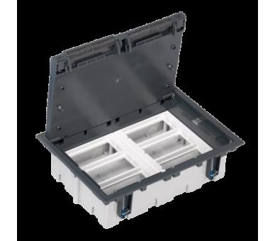 Puszka podłogowa SF prostokątna 12×K45 6×S500 93mm÷128mm szary 52050106-035