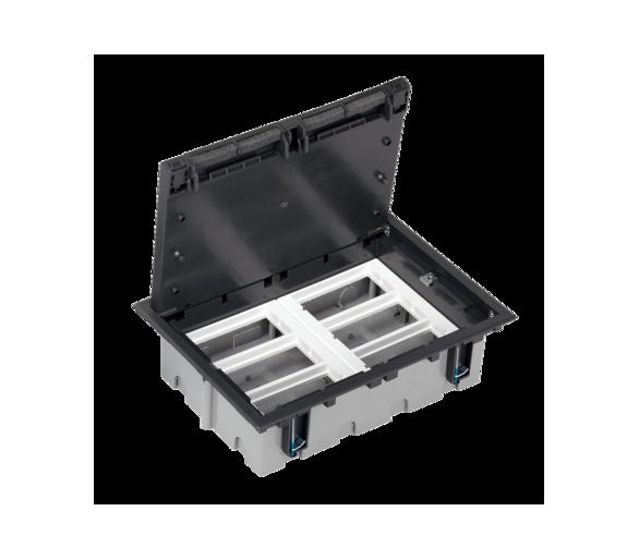 Puszka podłogowa SF prostokątna 12×K45 6×S500 93mm÷128mm szary grafit 52050106-038