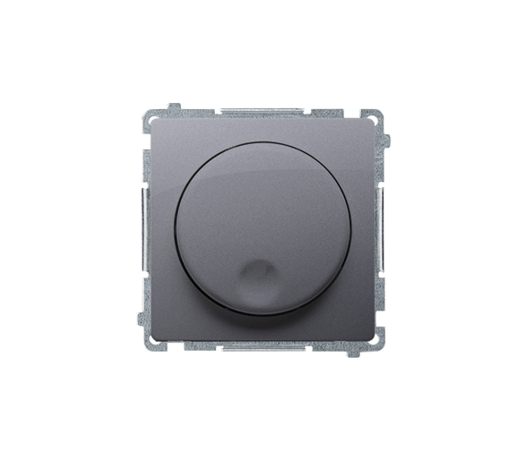 Ściemniacz naciskowo-obrotowy srebrny mat, metalizowany