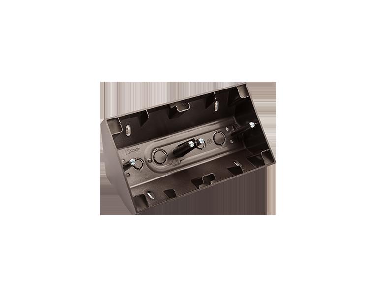 Puszka natynkowa narożna 2-krotna antracyt, metalizowany DPNR2/48