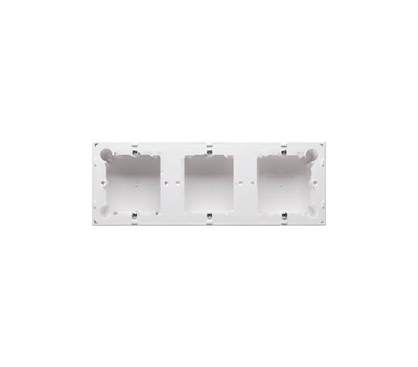 Puszka natynkowa 3-krotna biały  do serii BASIC i CLASSIC MPN3/11