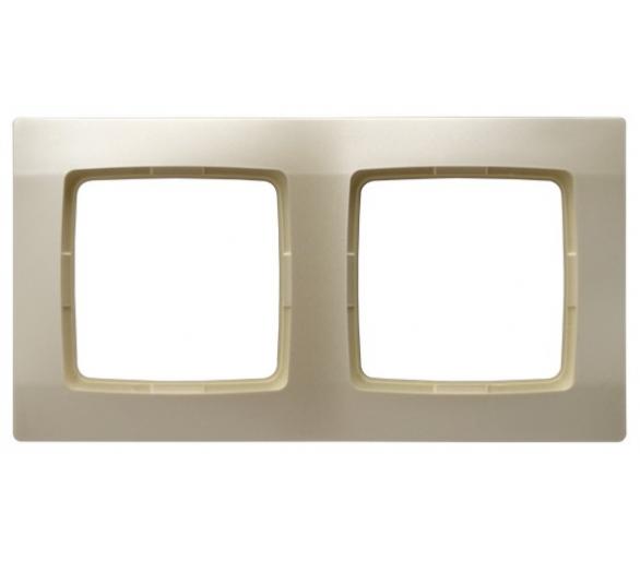 Ramka podwójna ecru perłowy Karo R-2S/42