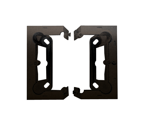 Puszka natynkowa składana, pojedyncza brąz mat, metalizowany
