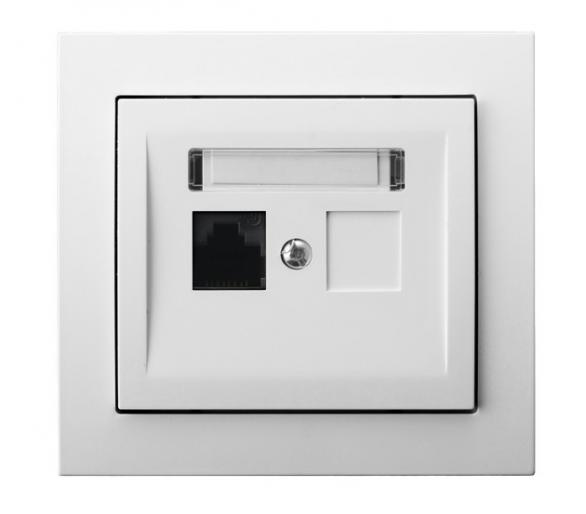 Gniazdo komputerowe pojedyncze, kat. 5e MMC biały Kier GPK-1W/K/00