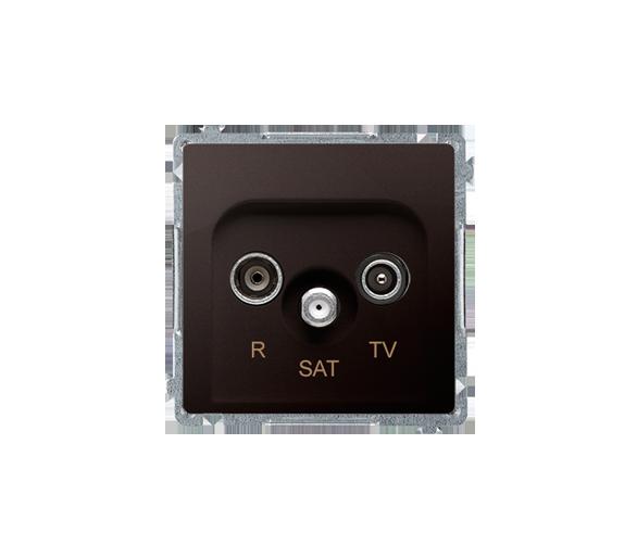 Gniazdo antenowe R-TV-SAT końcowe/zakończeniowe tłum.:1dB czekoladowy mat, metalizowany BMZAR-SAT1.3/1.01/47