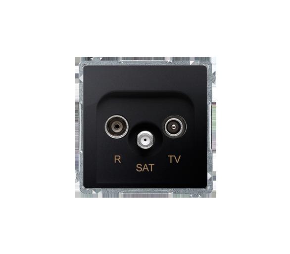 Gniazdo antenowe R-TV-SAT końcowe/zakończeniowe tłum.:1dB grafit mat, metalizowany BMZAR-SAT1.3/1.01/28