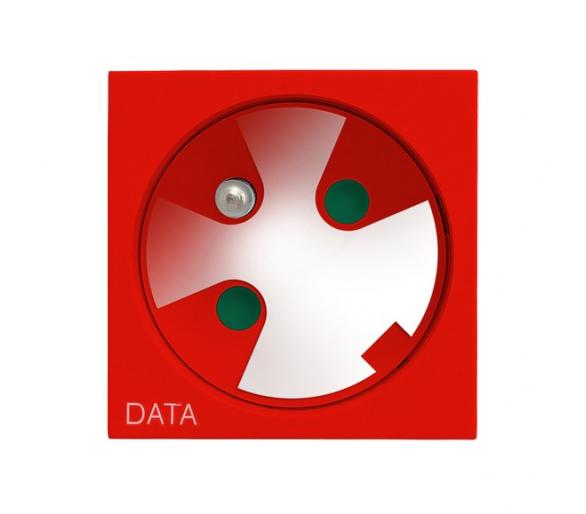 Gniazdo pojedyncze z uziemieniem DATA z kluczem uprawniającym czerwony Ospel45 GK-1ZK/22