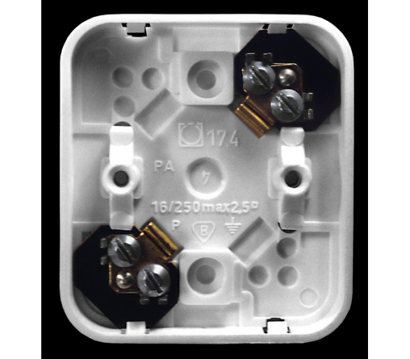 Puszka 2-zaciskowa do wyrobów z serii Pi biały Pi PWP-2P/00