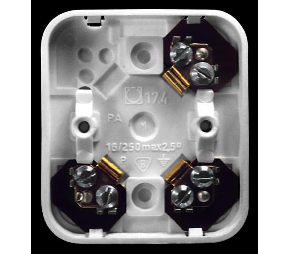 Puszka 3-zaciskowa do wyrobów z serii Pi biały Pi PWP-3P/00