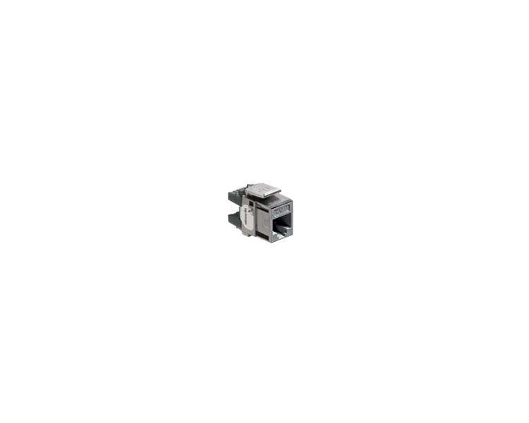 Wkład gniazda komputerowego RJ45 kat.6A, nieekranowany (UTP) czarny LRJ456A