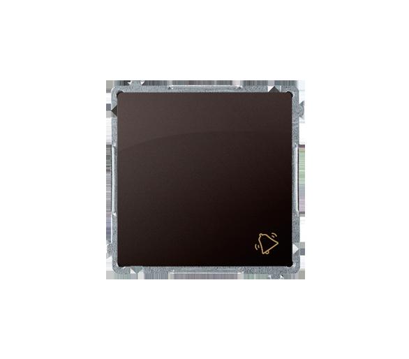 """Przycisk """"dzwonek"""" (moduł) 10AX 250V, szybkozłącza, czekoladowy mat, metalizowany"""