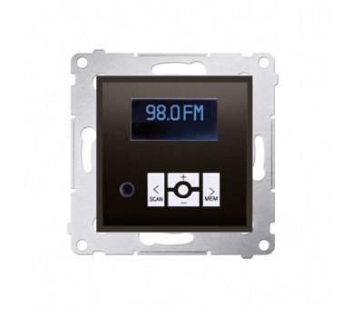 Radio cyfrowe z wyświetlaczem brąz mat, metalizowany D75252.01/46