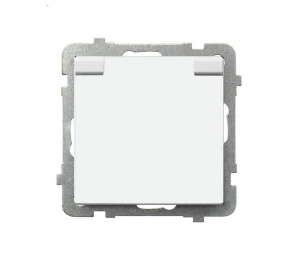 Gniazdo bryzgoszczelne z uziemieniem IP-44 wieczko w kolorze wyrobu biały Sonata GPH-1RZ/m/00/w