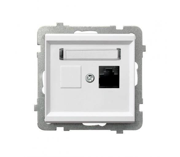 Gniazdo komputerowe pojedyncze, kat. 5e MMC biały Sonata GPK-1R/K/m/00