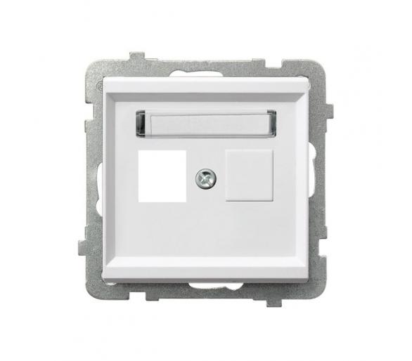 Obudowa gniazda pojedynczego typu Keystone prosta biały Sonata GPK-1R/p/00