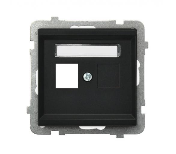 Obudowa gniazda pojedynczego typu Keystone prosta czarny metalik Sonata GPK-1R/p/33