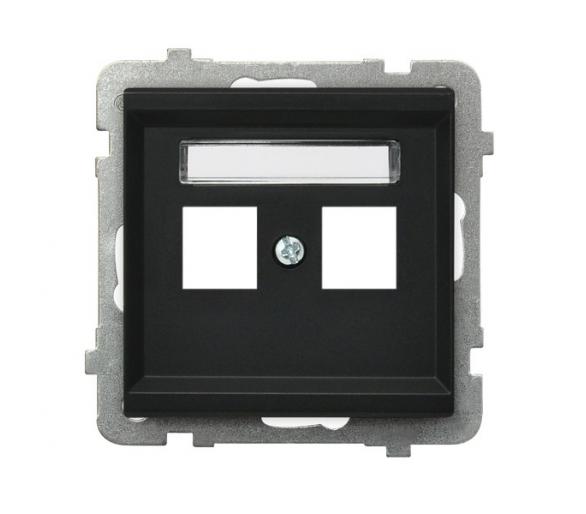 Obudowa gniazda podwójnego typu Keystone prosta czarny metalik Sonata GPK-2R/p/33