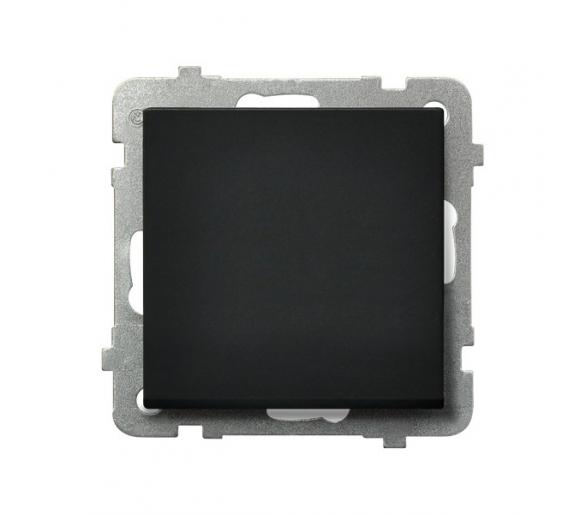 Łącznik jednobiegunowy czarny metalik Sonata ŁP-1R/m/33