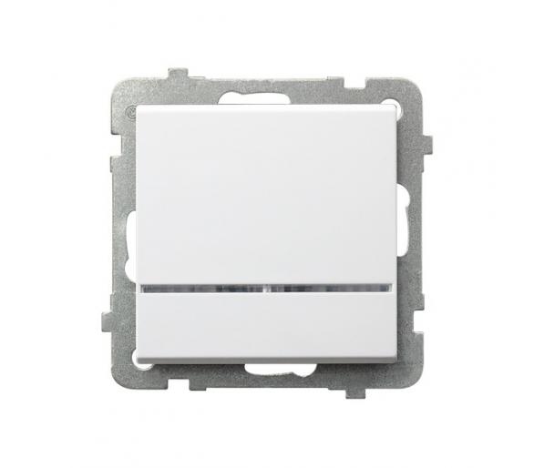 Łącznik jednobiegunowy z podświetleniem pomarańczowym biały Sonata ŁP-1RS/m/00