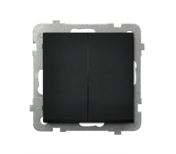 Łącznik dwugrupowy świecznikowy czarny metalik Sonata ŁP-2R/m/33