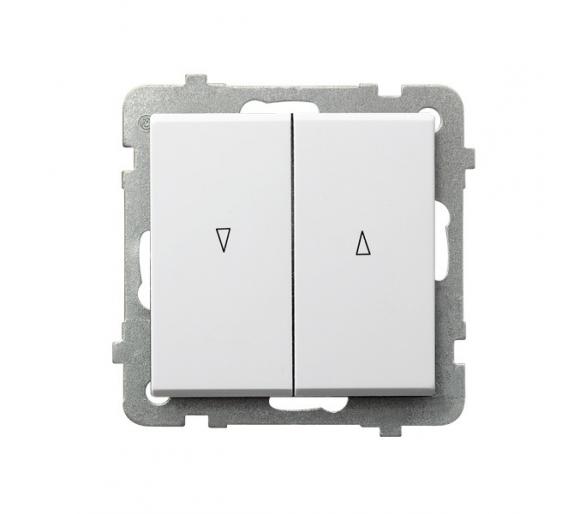Łącznik żaluzjowy, zwierny biały Sonata ŁP-7R/m/00