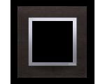 Ramka 1- krotna metalowa inox yin DRN1/78