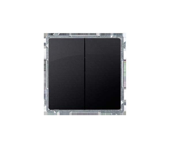 Przycisk podwójny zwierny bez piktogramu (moduł) 10AX 250V, szybkozłącza, grafit mat, metalizowany BMP2.01/28
