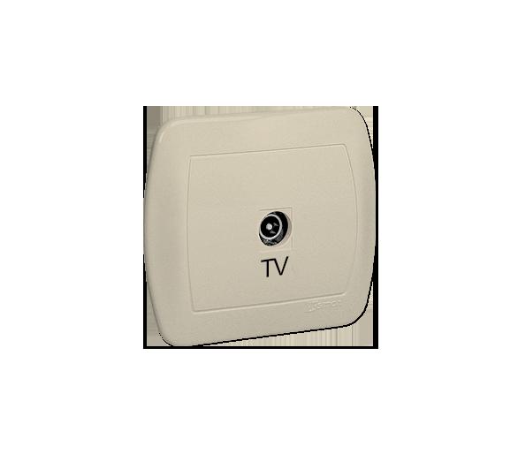 Gniazdo antenowe TV pojedyncze końcowe beżowy