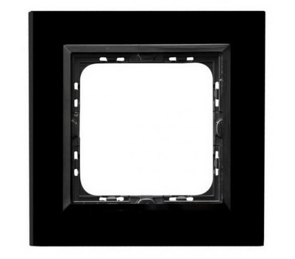 Ramka pojedyncza czarne szkło Sonata R-1RGC/32/25
