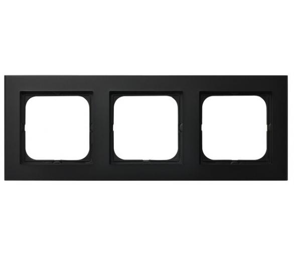 Ramka potrójna czarny metalik Sonata R-3R/33