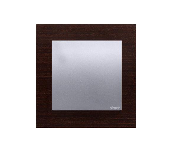 Ramka 1-krotna drewniana srebrne wenge DRN1/84