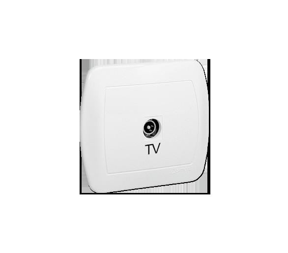 Gniazdo antenowe TV pojedyncze końcowe biały