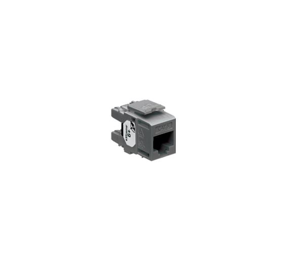 Wkład gniazda komputerowego RJ45 kat.6, nieekranowany (UTP) czarny