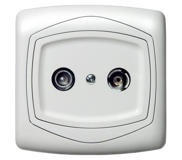 Gniazdo RTV przelotowe 14-dB biały Ton GPA-14CP/00