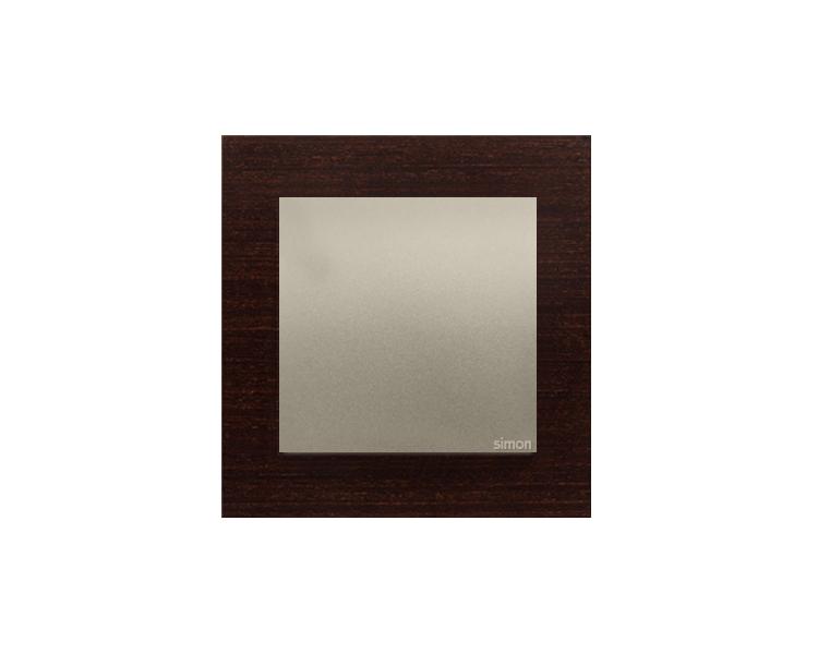 Ramka 1-krotna drewniana złote wenge DRN1/85