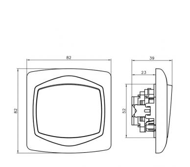 Łącznik jednobiegunowy biały Ton ŁP-1C/00