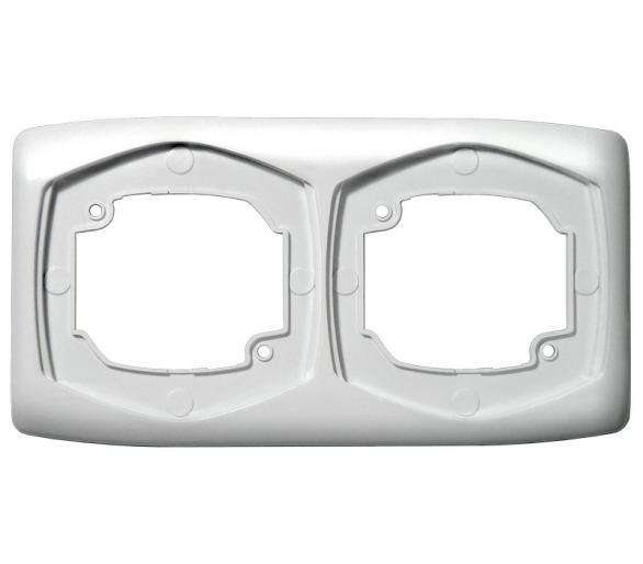 Ramka podwójna pozioma biały Ton R-2CH/00