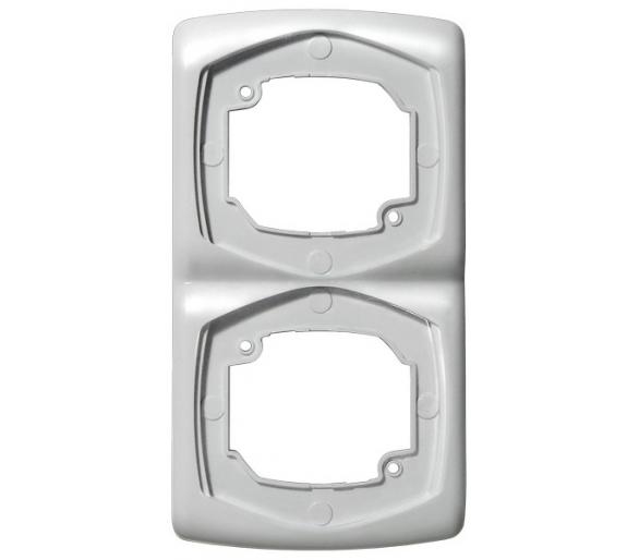 Ramka podwójna pionowa biały Ton R-2CV/00